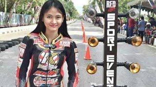 Drag bike Wiwi Mungil vs Indri Barbie jatuh glesar
