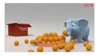 Happy Diwali 'Behind The Scenes' of 3D Animated Greeting of Elephant giving Ladoos