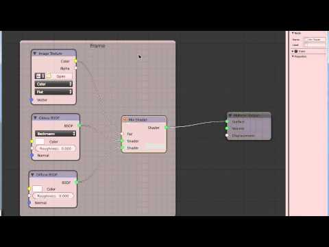 Blender tutorial - organize node - add frame with title (cycles)