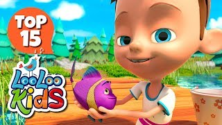 Once I Caught a Fish Alive - TOP 15 Songs for Kids on YouTube
