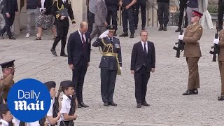 Prince William marks Battle of Amiens centenary in French city - Daily Mail
