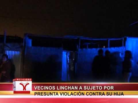 VECINOS LINCHAN A SUJETO POR PRESUNTA VIOLACIÓN CONTRA SU HIJA