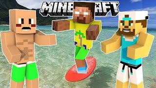 Minecraft - Surfing Herobrine - Team Build Battle
