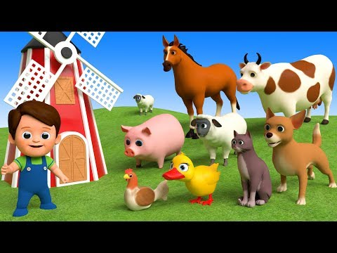 Xxx Mp4 Learn Farm Animals Names Amp Sounds For Kids Finger Family Song 3gp Sex