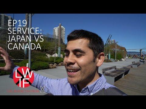 Service in Japan vs Canada
