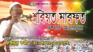 Bangla waz শরিয়ত মারফত সম্পর্কে মূল্যবান তাফসীর । Maulana Fazlul karim Rah.Chormonai । Islamic