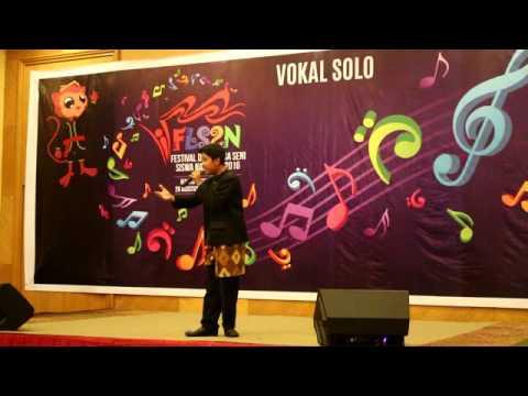 FLS2N 2016 : Juara 1 Vokal Solo Putera Tingkat Nasional di Manado, Sulut.