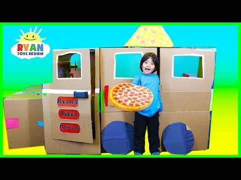 Xxx Mp4 Ryan Pretend Play With Pizza Delivery Box Fort 3gp Sex