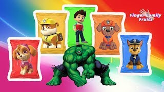 Hulk Wrong Chips Paw Patrol Learn Colors For Kids - Finger Family