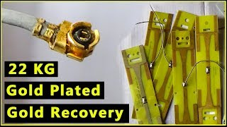 🔶Gold Plated Boards Gold Recovery  Gold Striping from Gold Plated Computer Parts Computer Recycling
