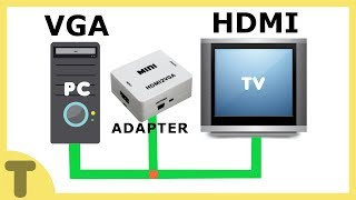 HOW TO CONNECT PC TO TV USING VGA TO HDMI ADAPTER !