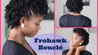 Coiffure Cheveux Crépus   Frohawk Bouclé