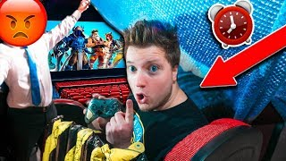 SNEAKING INTO MOVIE THEATER 24 Hour Challenge! (GONE WRONG)