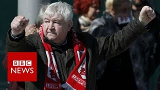 Hillsborough Verdict: Families crying and hugging - BBC News