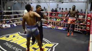 Charlie PhuketTopTeam vs Pechdam Muay Thai Fight 23 March 2016 Bangla Stadium