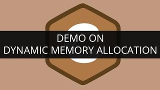 Demo on Dynamic Memory Allocation   C Programming   Edureka
