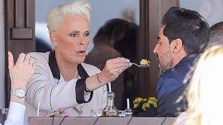 Brigitte Nielsen Feeds Her Man During A Romantic Lunch