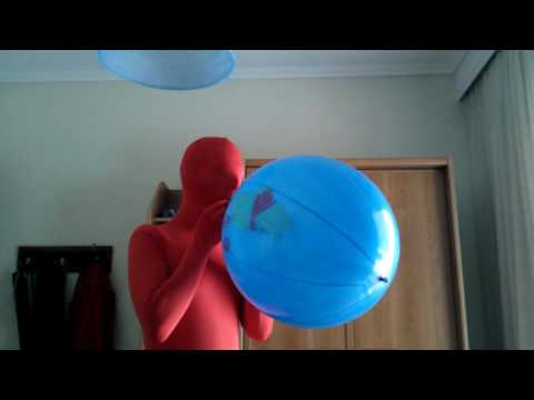 Blow to pop 16'' punch balloon