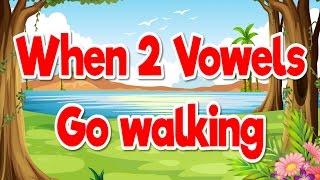 When 2 Vowels Go Walking | Phonics Song for Kids | Jack Hartmann