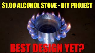 Alcohol Stove Made from $1 Walmart Water Bottle - Best Design Yet?