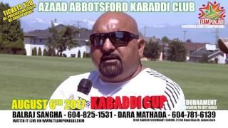 Kabaddi Kabaddi Azaad Abbotsford Tournament 2017