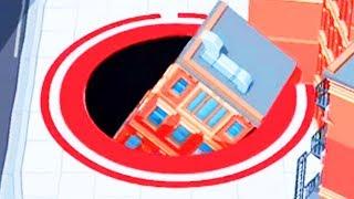 GIANT HOLE SWALLOWS BUILDINGS - Hole.io Gameplay | Pungence