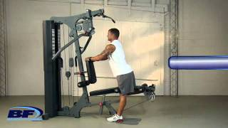 Arm, Chest, Leg, and Ab Workout   Bayou Fitness E Series Home Gym   E 8620   YouTube