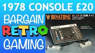 1978 Retro Console Binatone TV Master 4 + 2 cheap vintage collectable
