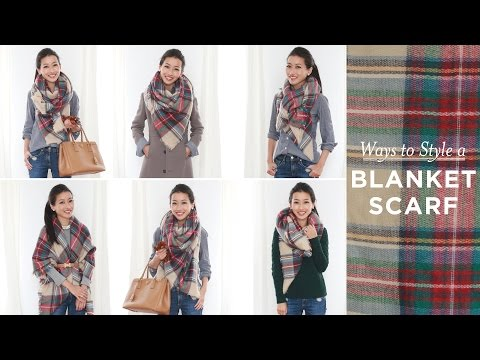 How to style tie a blanket scarf