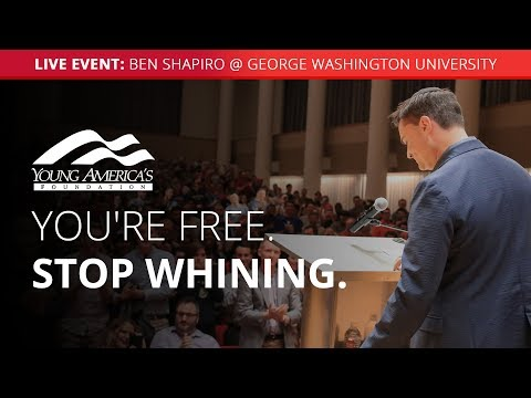 Xxx Mp4 You Re Free Stop Whining Ben Shapiro LIVE At George Washington University 3gp Sex