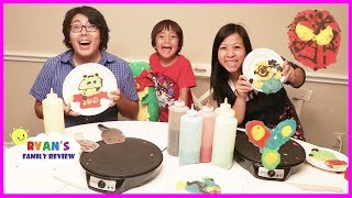 Family Pancake Art Challenge Mommy VS Daddy!