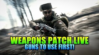 Battlefield 1 Weapons Patch Is Live! What Guns To Try First?