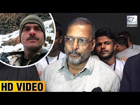 Nana Patekar's BEST Reply On BSF Jawan Viral Video   Lehren News