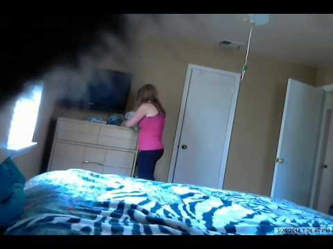 Roommate caught on hidden camera.