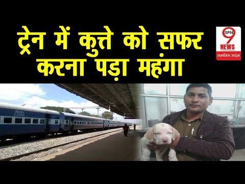 ट्रेन में बिना टिकट यात्रा करना कुत्ते को पड़ा महंगा, रेलवे ने लगाया जुर्माना |||