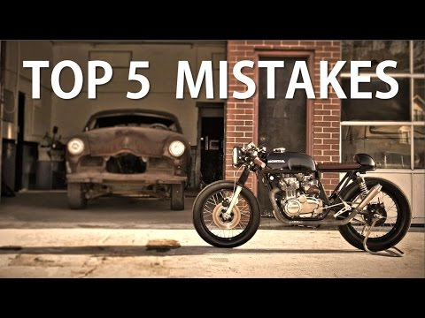 Top 5 Mistakes about Cafe Racer Projects