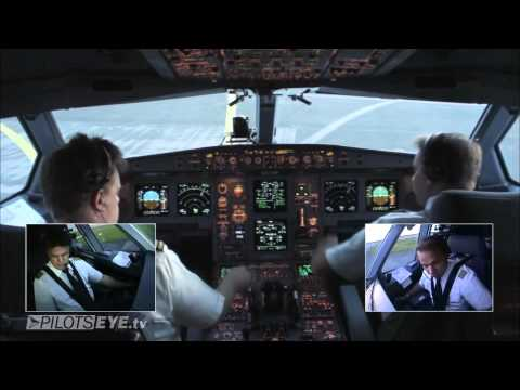 Düsseldorf Malediven Airbus A330 Cockpit View HD