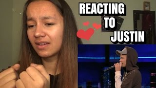 BELIEBER REACTS TO JUSTIN BIEBER REAL VOICE WITHOUT AUTO TUNE!!