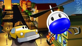 The Car Patrol: Fire Truck and Police Car in SAVING JEREMY in Car City | Cars & Trucks cartoons