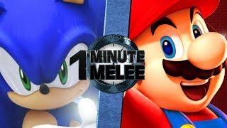 Mario vs Sonic (Nintendo vs Sega) - One Minute Melee S5 EP7