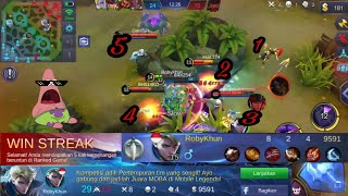 Alucard Di Kroyok 5 Orang Susah Mati Pakek Build Anti Mati + Demage!!!!