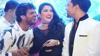 Amrapali Dubey, Khesari Lal Yadav | Bhojpuri Film Muhurat | Production no  4 & 5 | Dinesh Lal Yadav