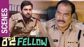 Rowdy Fellow Telugu Movie Scenes   Nara Rohit solid warning to Ahuti Prasad   Vishakha Singh