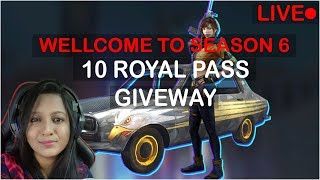 PUBG MOBILE - 10 ROYAL PASS GIVEAWAY - type Giveaway !Paytm on Screen