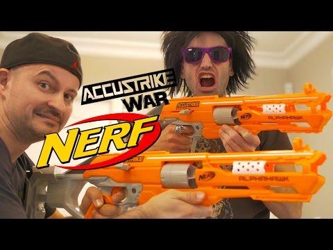 NERF WAR: Nerf AccuStrike Blasters!