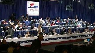 RNC Platform Committee casting final votes on delegates