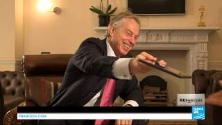 REPORTERS - Tony Blair shows his admiration for Chirac's ruthlessness