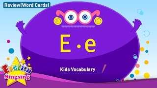 Kids vocabulary compilation - Words starting with E, e - Word cards - review