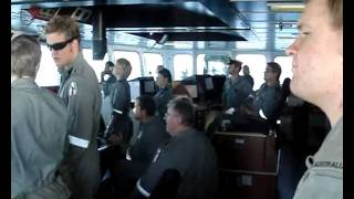 Royal Australian Navy actions and reactions.