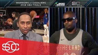 Stephen A. Smith and Jamie Foxx banter about LeBron James criticism | SportsCenter | ESPN